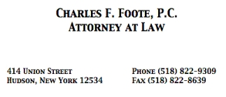 Foote Law ad