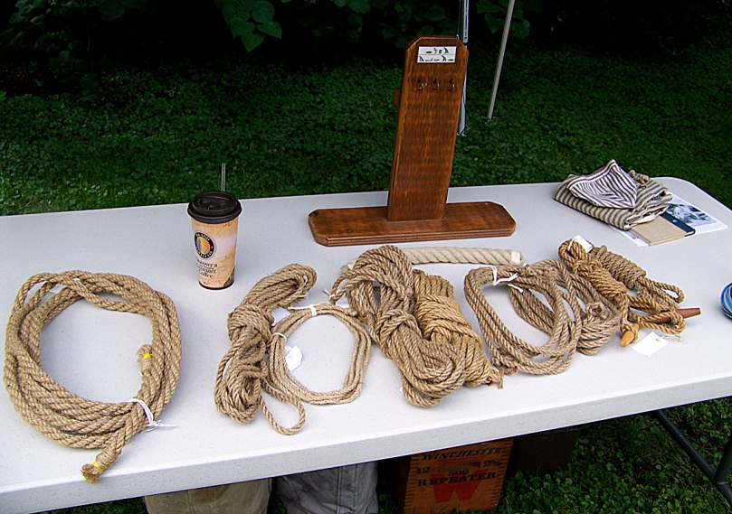 Finished rope products of the Colonial era.