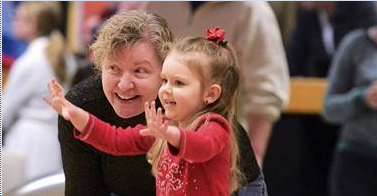 Maggie Forth and granddaughter Addison, 3, during the Bowl Over Polio evemt. (J.S. Carras photo)