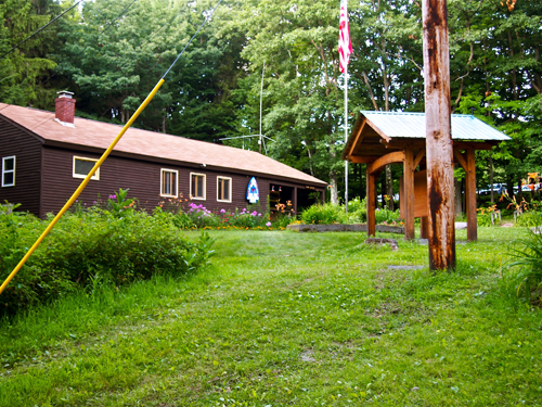 The camp's main office.
