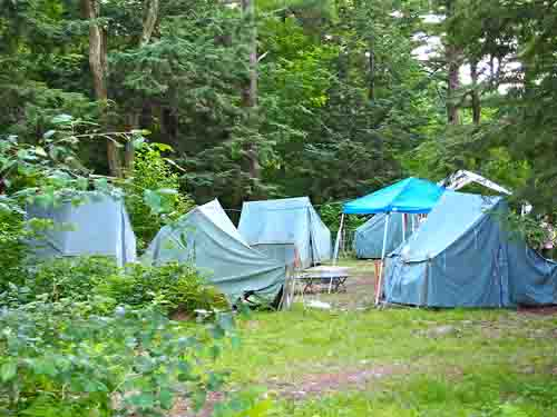 One of the clusters of tents.