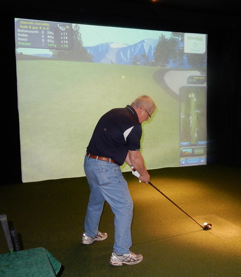 Terry Brewer prepares to take a swing at glory.
