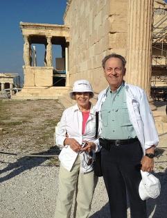 Debbie and Peter Brown in Greece.