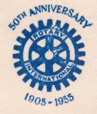 A stamp issued in the Philippines to commemorate RI's 50th anniversary.
