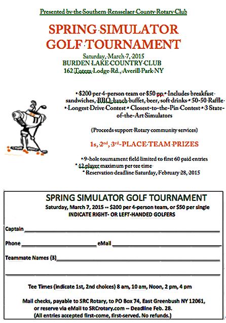 Spring Golf flyer