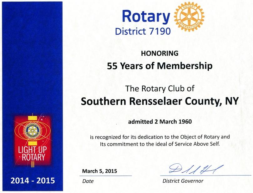 55th Certificate274