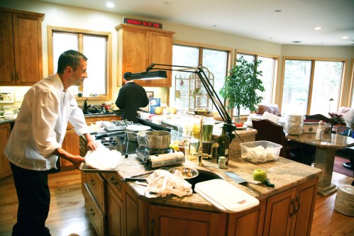 Chef Andrew Plummer getting started with his preparations.