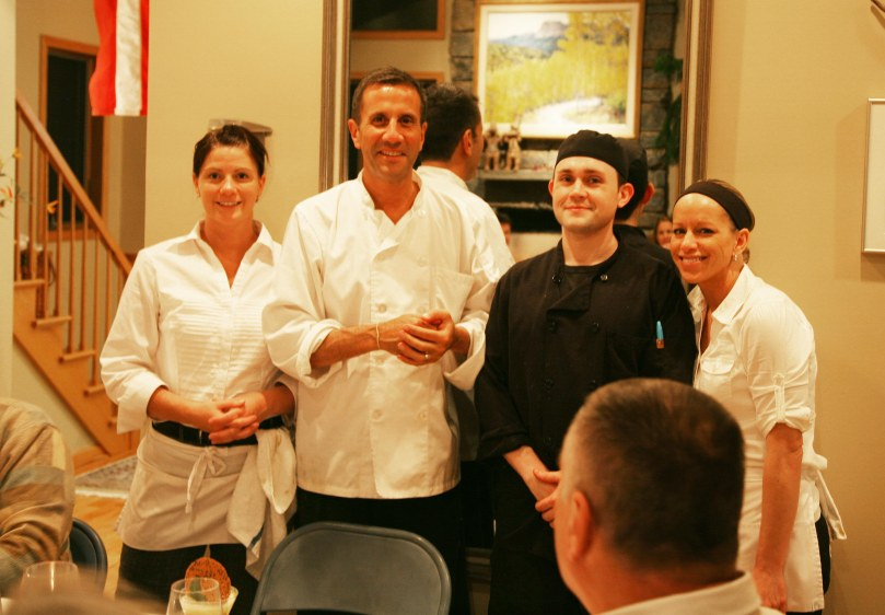 Chef Andrew and his staff.