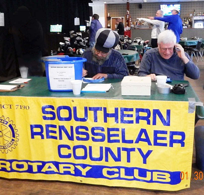 David Taylor and Ray Hannan staff the registration table to keep things running smoothly.