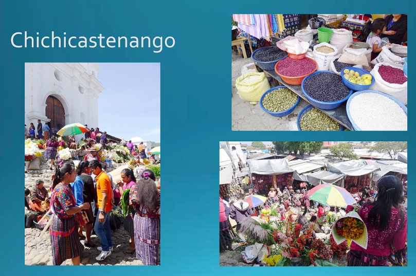 At the market in Chichicastenango.