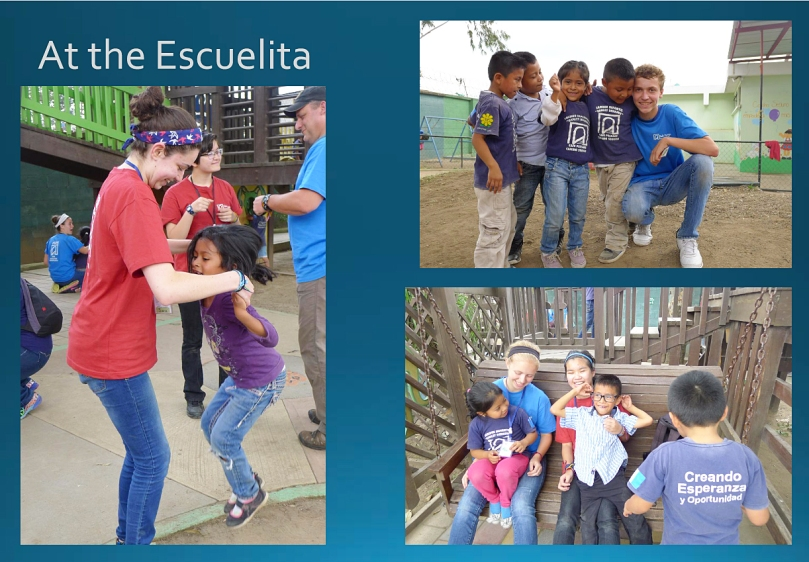 """Escuelita"" is ""little school."" Note the protective walls that separate it from the rest of the community."