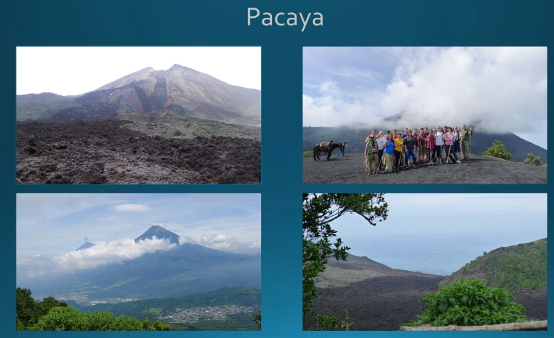 Visiting the Pacaya volcano.