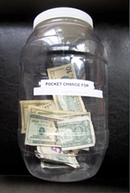 Pocket Change Jug