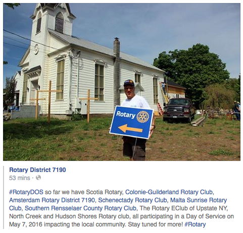 This is from District 7190's DOS (Day of Service) update on its Facebook page, where our club is mentioned.